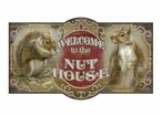 Custom Nut House with Squirrels Vintage Style Metal Sign