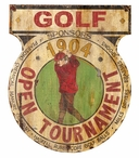 Custom Open Golf Tournament Vintage Style Metal Sign