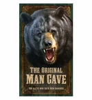 Custom Original Man Cave Bear Vintage Style Metal Sign