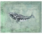 Custom Right Whale Vintage Style Metal Sign