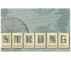 "Custom Seas of Inspiration ""Strong"" Vintage Style Metal Sign"