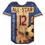 Custom Soccer Jersey Vintage Style Metal Sign