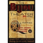 Custom The Bijou Theater Vintage Style Metal Sign