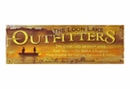 Custom The Loon Lake Outfitters Vintage Style Metal Sign