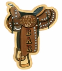 Custom The Saddle Up Bar Vintage Style Metal Sign