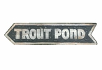 Custom Trout Pond Vintage Style Metal Sign