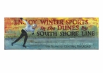 Custom Winter Sports in the Dunes Vintage Style Metal Sign