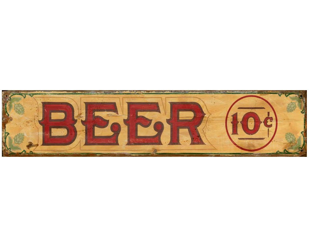 Customizable Beer Vintage Style Wooden Sign - Personalized ...