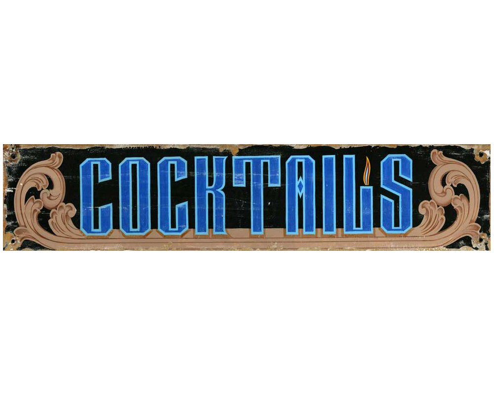 Customizable Cocktails Vintage Style Wooden Sign ...