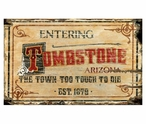 Custom Large Tombstone Arizona Vintage Style Wooden Sign