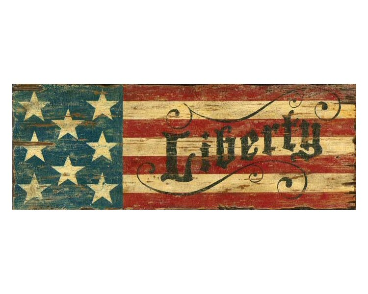 Customizable Red White Amp Blue Liberty Flag Vintage Style