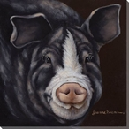 Cute Pig Wrapped Canvas Giclee Print Wall Art
