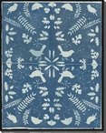 Cyanotype in Four Parts Birds Wrapped Canvas Giclee Print Wall Art