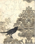Damask Songbird 2 Wrapped Canvas Giclee Print Wall Art
