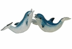 Dancing Dolphin Statues, Set of 2