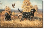 Dare and Dash Gordon Setter Dogs Wrapped Canvas Giclee Print
