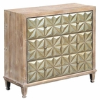 Darlington 3 Drawer Rustic Wood and Antique Brass Chest