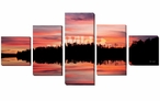 Day 59 Scenic Landscape Wrapped Canvas Giclee Wall Art, Set of 5