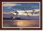 Daybreak at Lake Pepin Canvasback Framed Canvas Giclee Art Print
