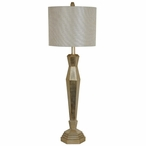 Delano Resin Table Lamp with Silver Linen Shade