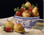 Delft I Bowl of Fruit Wrapped Canvas Giclee Print Wall Art