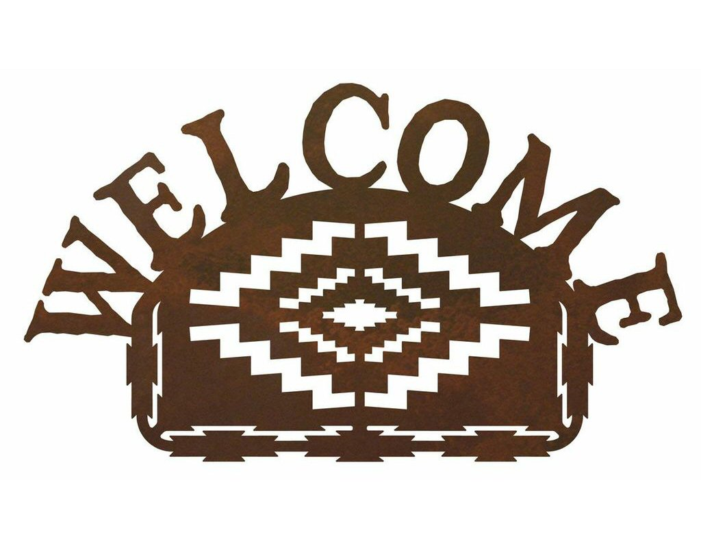 Desert diamond metal welcome sign rustic outdoor wall decor for Outdoor decorative signs