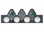 Desert Diamond with Turquoise Stone Four Light Metal Vanity Light