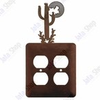 Desert Moon Double Metal Outlet Cover