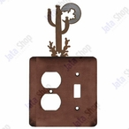 Desert Moon Double Metal Outlet Cover with Single Toggle