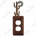 Desert Moon Single Metal Outlet Cover