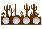 Desert Scene Four Light Metal Vanity Light