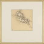 Di Riposo Pointed Left Matted and Framed Art Print Wall Art