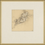 Di Riposo Pointed Right Matted and Framed Art Print Wall Art