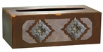 Diamond Silver Concho Metal Flat Tissue Box Cover