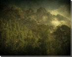 Diff Fog Mountain Scene Wrapped Canvas Giclee Print Wall Art