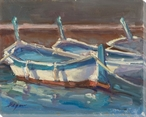 Dinghies Boats South of France Wrapped Canvas Giclee Print