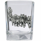 Dog Sled Pewter Accent Shot Glasses, Set of 4