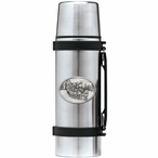 Dog Sled Stainless Steel Thermos with Pewter Accent