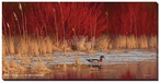 Dogwood Wood Duck Wrapped Canvas Giclee Print Wall Art
