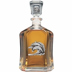 Dolphin #2 Capitol Glass Decanter with Pewter Accents