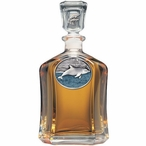 Dolphin Blue Capitol Glass Decanter with Pewter Accents