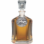 Dolphin Capitol Glass Decanter with Pewter Accents