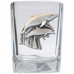 Dolphins Pewter Accent Shot Glasses, Set of 4