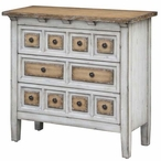 Donovan 3 Drawer Raised Front Two Tone Wood Chest