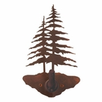 Double Pine Trees Metal Robe Hook