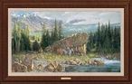 Down from the High Country Elk Hunter Framed Canvas Giclee Art Print
