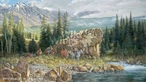 Down from the High Country Elk Hunters Canvas Giclee Art Print