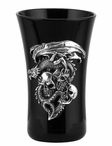 Dragon and Three Skulls Shot Glasses, Set of 2