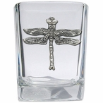 Dragon Fly Pewter Accent Shot Glasses, Set of 4