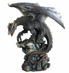 Dragon Standing on a Rock Spring Sculpture